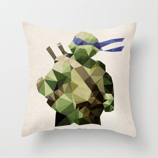 Polygon Heroes - Leonardo Throw Pillow