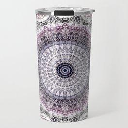 Bohemian White Detailed Mandala Design Travel Mug