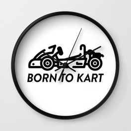 Born To Kart Wall Clock