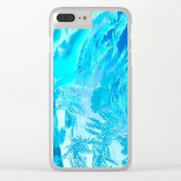 Hoar Frost in Turquoise Clear iPhone Case