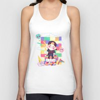 shinee Tank Tops featuring Downtown Baby SHINee by sophillustration
