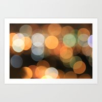 bokeh Art Prints featuring bokeh by danielmisura
