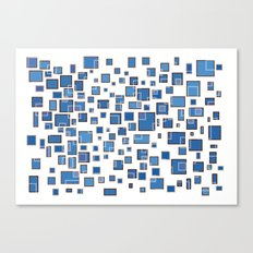 Blue Abstract Rectangles Canvas Print