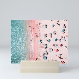 Ocean Print, Beach Print, Wall Decor, Aerial Beach Print, Beach Photography, Bondi Beach Print Mini Art Print