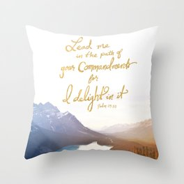 Psalm 119:35 Throw Pillow