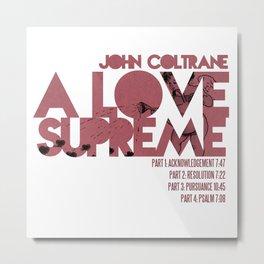A Love Supreme - John Coltrane / Album Cover Art LP Poster  Metal Print