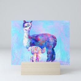 Nimbus Farm Mother & Cria Mini Art Print