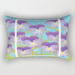 Lavender and Baby Blues Rectangular Pillow