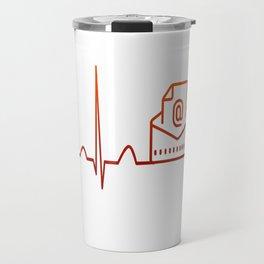 Mail Carrier Heartbeat Travel Mug