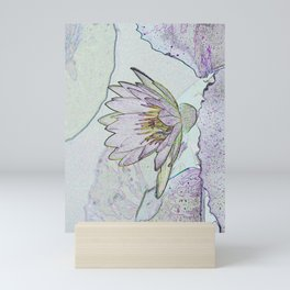 Waterlily Abstract Mini Art Print