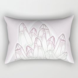 Crystals - Pink Rectangular Pillow