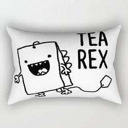 Tea Rex Funny Tea Bag T Rex Pun Rectangular Pillow