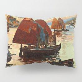 Lake Garda - Vintage Poster Pillow Sham