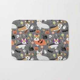 Corgi halloween costume ghost mummy vampire howl-o-ween dog gifts Bath Mat