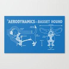 The Aerodynamics of a Basset Hound Canvas Print