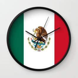 Flag of mexico- mexico,mexico city,mexicano,mexicana,latine,peso,spain,Guadalajara,Monterrey Wall Clock