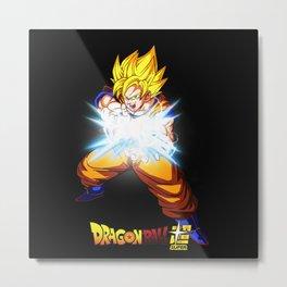 Super Saiyan Goku Kame hame 0006 Metal Print