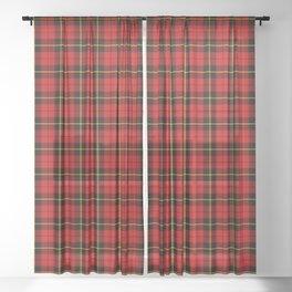 Scottish Clan Wallace Tartan Plaid Sheer Curtain