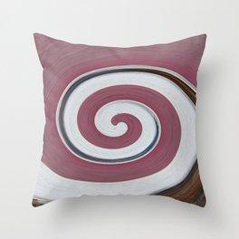 Swirl 06 - Colors of Rust / RostArt Throw Pillow