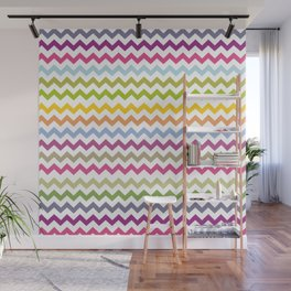 Colorful Made of Zig Zag Stripes                                                  Wall Mural
