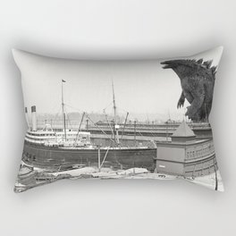 The White Star Line and Godzilla Rectangular Pillow