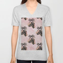 Black Swan Pattern 03 Unisex V-Neck