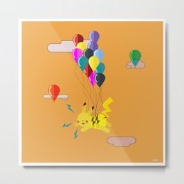 Electric Balloons  Metal Print