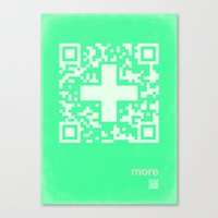 QR more Canvas Print
