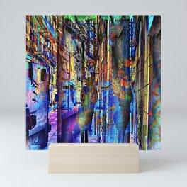 echoing senses of comfort contorting all the logic Mini Art Print