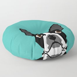 Boston Terrier head dog breed gifts cute pupper boston terriers must haves Floor Pillow