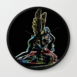 Psyche Revived by Cupid's Kiss by Jéanpaul Ferro Wall Clock