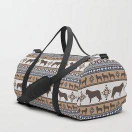 Boho dogs   Siberian Husky tan Duffle Bag