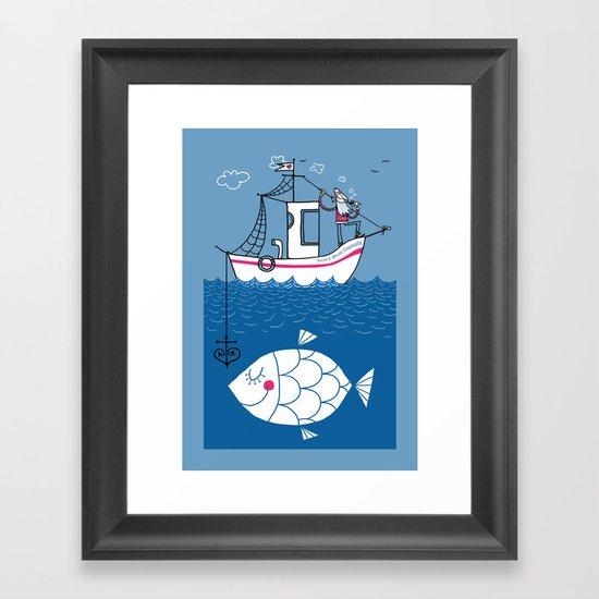 Love Boat Captain Framed Art Print