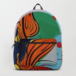Une étoile dans la nuit French Pop Girl Art Decoration Backpack