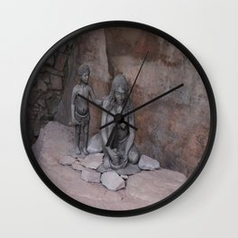 Neanderthal Story Wall Clock