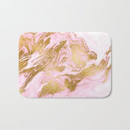 Rose Gold Mermaid Marble Bath Mat