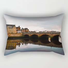 Reflection Of Ayr Auld Bridge  Rectangular Pillow