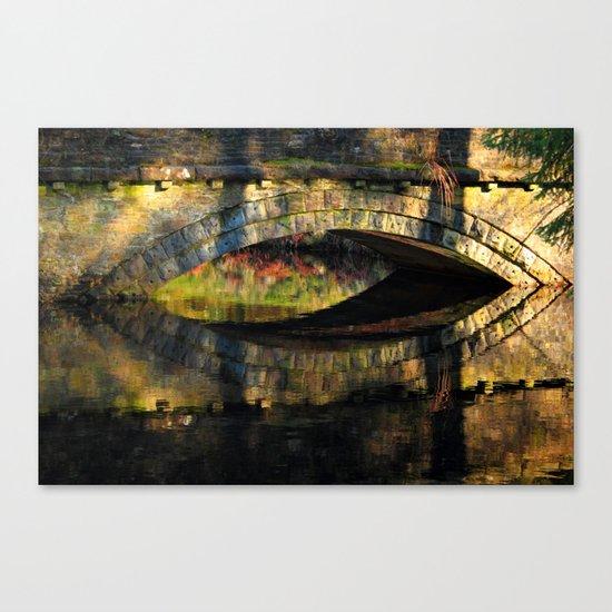Bridge at River Westend Canvas Print
