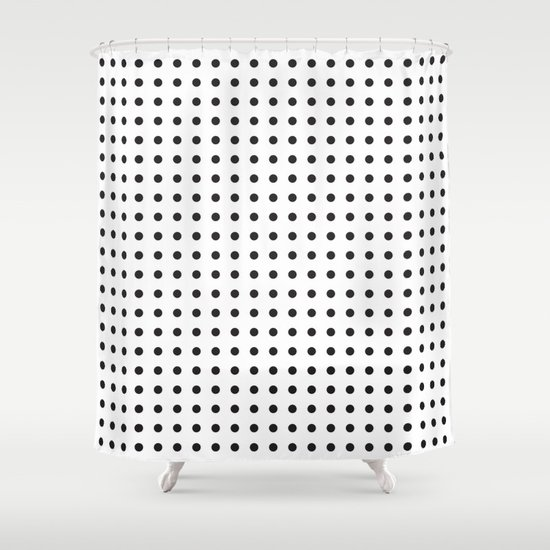 Black And White Polka Dot Shower Curtain By Dpfnorth Society6