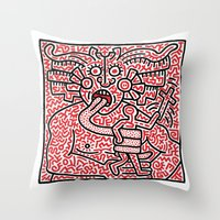 keith haring Throw Pillows featuring Keith Haring by cvrcak