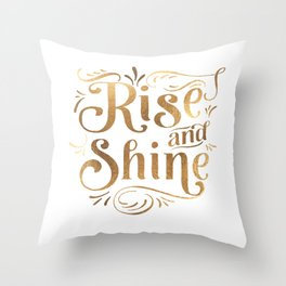 RISE AND SHINE Sign, Bedroom Decor,Home Decor,Living Room Decor,Motivational Quote,Rise And Grind Throw Pillow