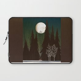 Into The Cold Winter Woods Laptop Sleeve