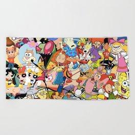 Childhood Cartoons Beach Towel