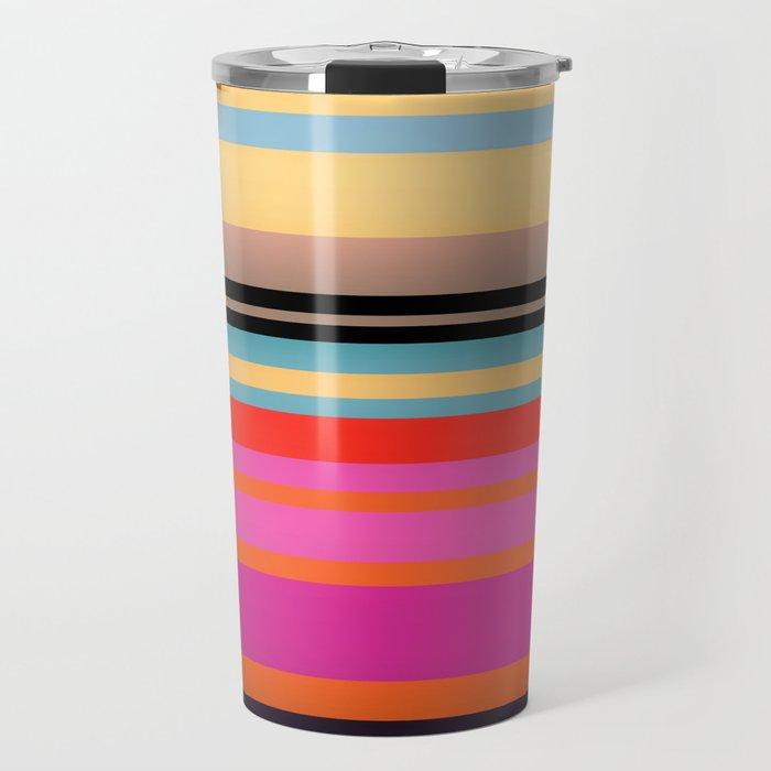 Sunset Stripes Travel Mug