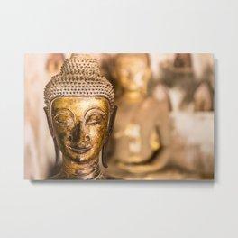 Wat Si Saket Buddhas XI, Vientiane, Laos Metal Print