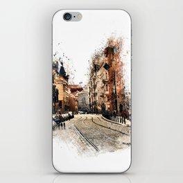 Prague street art iPhone Skin