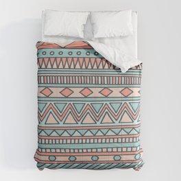 Tribal #4 (Coral/Aqua) Comforters