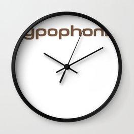 Typophonic logo Wall Clock