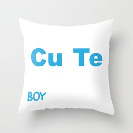 Science Boy I'm That Cute Boy WHo Loves Science Throw Pillow