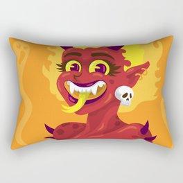 Devil Woman Rectangular Pillow